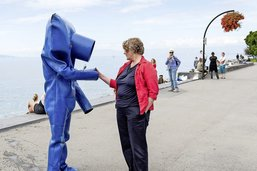 L'Homme bleu, poème qui va