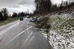 Cinq accidents dus à la neige