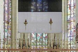 La police à Notre-Dame de Fribourg