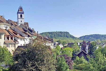 Le charme estival d'Aarau