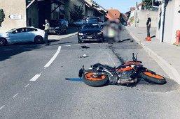 Motocycliste blessée dans un accident